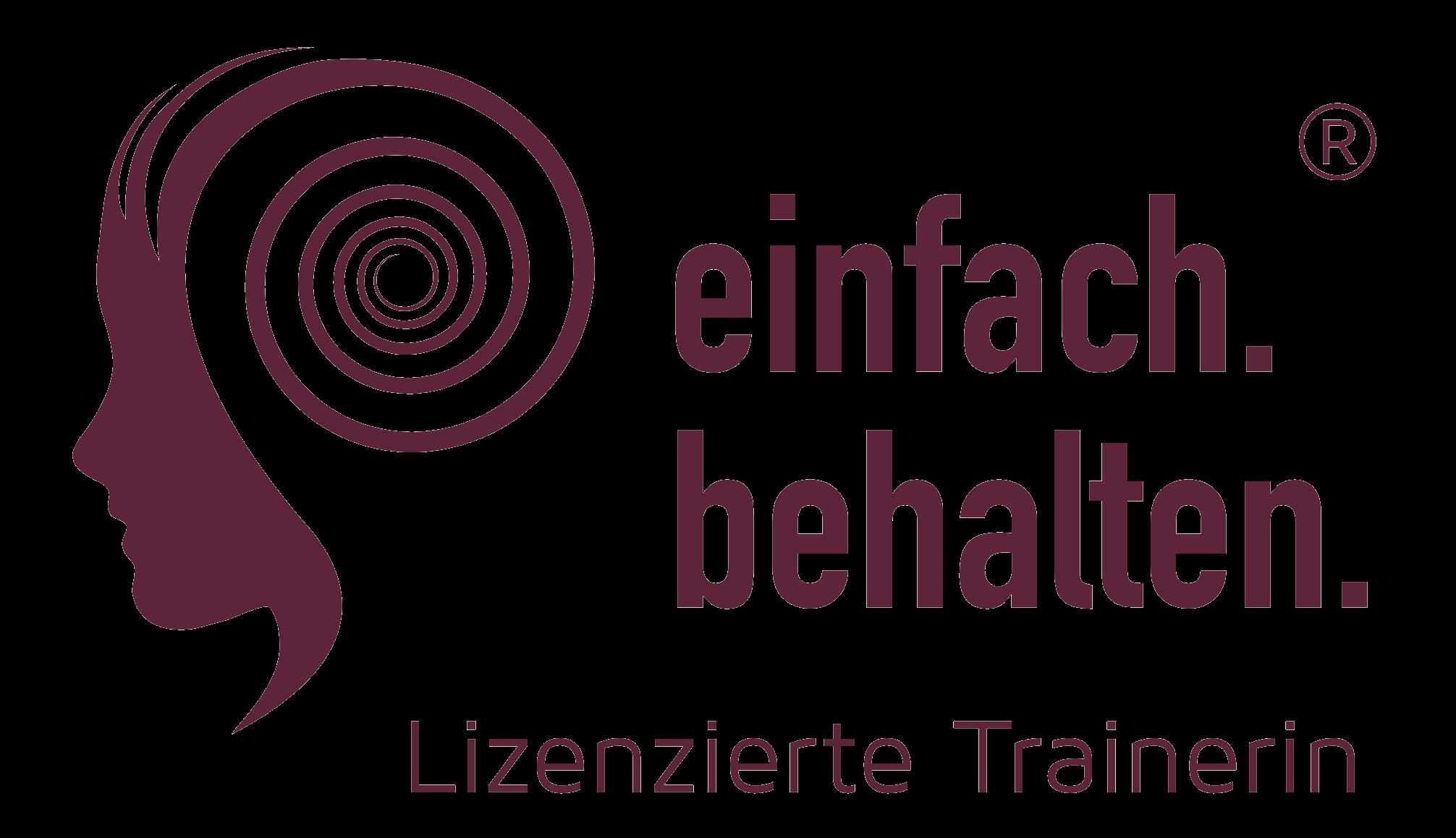 Logo einfach.behalten. lizenzierte Trainerin